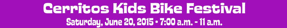 Cerritos Kids Bike Skills Workshop, June 20