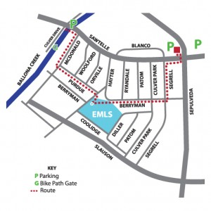 EMLS Walk 'n Roll Wednesday Map