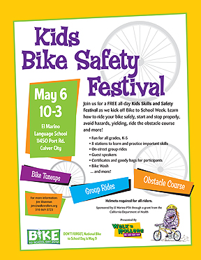 Kids Bike Safety Festival flier