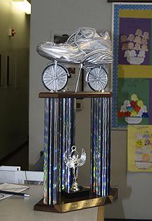 Silver Sneaker Trophy