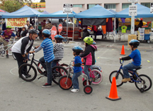 Bike Skills instruction in East L.A.