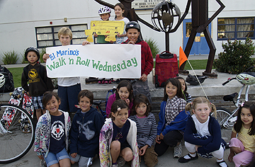 Walk 'n Roll Wednesday at El Marino Language School