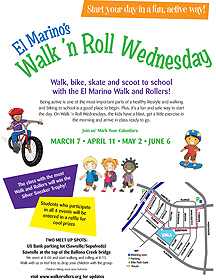 EMLS Walk 'n Roll Wednesday flier