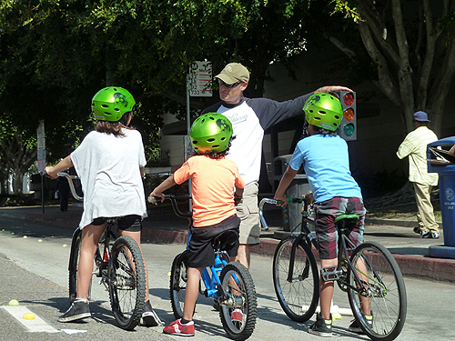 Bike Saftey instruction for children.