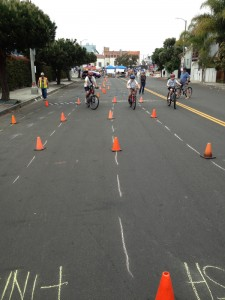 Walk 'n Rollers Bike Skills Workshop, CicLAvia, April 2013