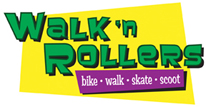 Walk 'n Rollers Logo: bike - walk - skate - scoot