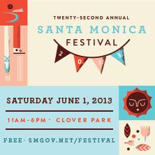 Santa Monica Festival flier