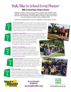 Walk / Bike to School Flier