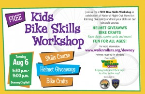 Kids Bike Skills Workshop Flier